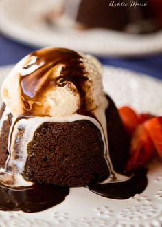 this lava cake is a dessert I can get behind, rich chocolate taste