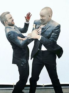 Breaking Bad. More evidence that Bryan Cranston and Aaron Paul are in fact giant five year olds.