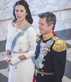 NewMyRoyals:  New Year's Reception for the Diplomatic Corps, Christiansborg Palace, January 5, 2016-Crown Princess Mary and Crown Prince Frederik