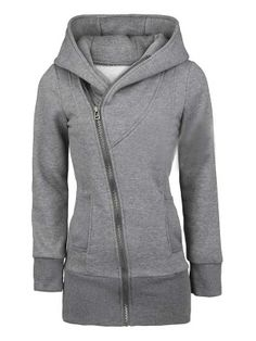 Women's Leisure Front Zip Hooded Jacket Coat