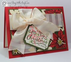 I used the Stampin' Up! Reason for the Season stamp set and a little of the Home for the Holidays DSP to create my card for the Happy Stampers Blog Hop this week. We've got a sketch that Sandi pro...