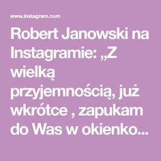 """Robert Janowski na Instagramie: """"Z wielką przyjemnością, już wkrótce , zapukam do Was w okienko i powiem : ,, Witam Państwa bardzo serdecznie"""" 😍 A dzisiaj na planie…"""""""