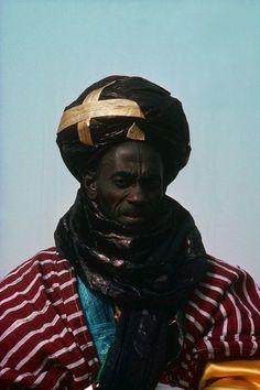 Africa | Haussa man.  Grand Durbar festivities in Kaduna, Nigeria | ©Michel Renaudeau
