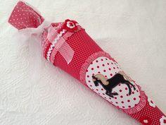 Schultüten - ★ Schultüte Zuckertüte Pferd Name★ - ein Designerstück von Zuckermaeuschen bei DaWanda