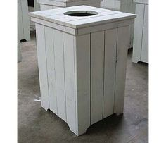 Wooden Wastebasket 30 Gallon Wooden Trash Can Made From Wooden Pallets  My Projects