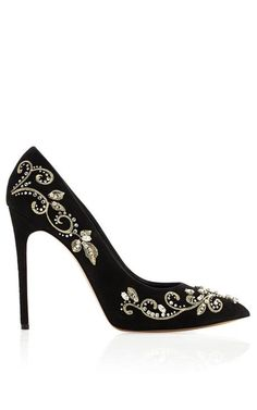 Casadei x Prabal Gurung Embroidered Pump by Prabal Gurung for Preorder on Moda Operandi