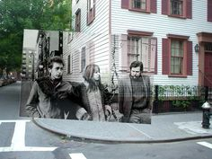 Dylanwalk - Bob Dylan and Friends by Jim Marshall - Greenwich Village - New York City 1963