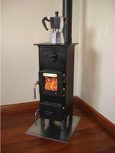 Tiny wood burner made for huts in New Zealand. Perfect for a tiny house. diy home