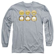 """Checkout our #LicensedGear products FREE SHIPPING + 10% OFF Coupon Code """"Official"""" Garfield / Emojis-long Sleeve Adult 18 / 1-athletic Heather-sm - Garfield / Emojis-long Sleeve Adult 18 / 1-athletic Heather-sm - Price: $29.99. Buy now at https://officiallylicensedgear.com/garfield-emojis-long-sleeve-adult-18-1-athletic-heather-sm"""