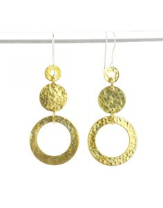 Handmade Jewelry Bright Future Brass Hoop earrings