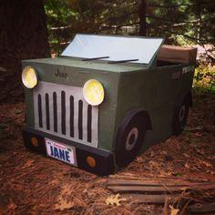 Indiana jones cardboard jeep! Girls camp skit prop