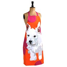 Leslie Gerry Westie Puppy Apron- think I might have to gift this to myself as a new pup present :)