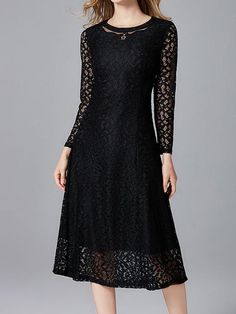 Rebellious Lace A-line Dress Lace A Line Dress, Lace Dresses, Black One Piece, Smock Dress, Comfortable Outfits, Modest Fashion, Types Of Sleeves, Plus Size Fashion, Type 3