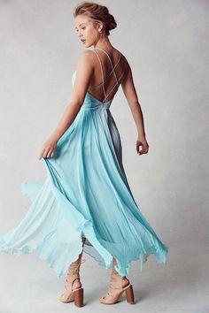 Kimchi Blue Waterfall Chiffon Maxi Dress