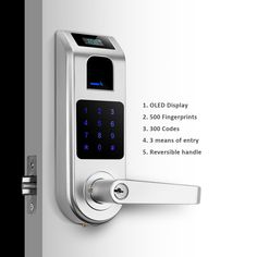Fantastic features of A10 Touchscreen keyless door lock provides extra security.