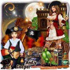 "Scraps N Company: AD CT TEAM, ""Pirate Dress Red"""