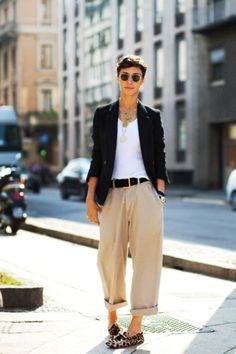 Summer androgynous look