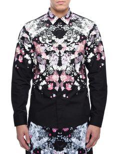 EVISU - Black Floral Godhead Shirt