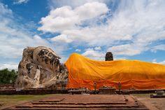 Großer liegender Buddha in Ayutthaya.
