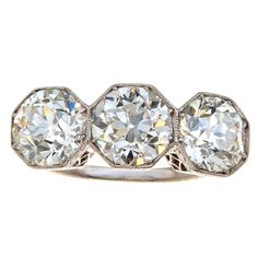 1stdibs - Edwardian Three Diamond Ring explore items from 1,700  global dealers at 1stdibs.com