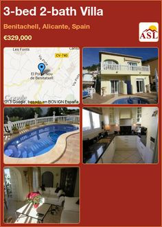 3-bed 2-bath Villa in Benitachell, Alicante, Spain ►€329,000 #PropertyForSaleInSpain