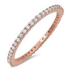 Rose Gold Diamond Band (3)