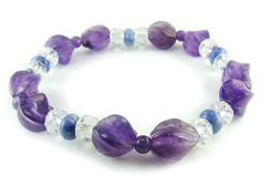 BA4582 Amethyst Clear Quartz Sodalite Healing Natural Crystal Stretch Bracelet - See more at: http://waggashop.com/wagga-shop-ba4582-amethyst-clear-quartz-sodalite-healing-natural-crystal-stretch-bracelet