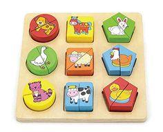 Viga Nct Farm Animals Shape Block Puzzle