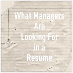see a resume