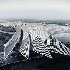 Winged airport design via dazzling archi nextarch next top architects via katpaskv- architecture, design, love