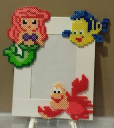 Perler Ariel / The Little Mermaid Frame