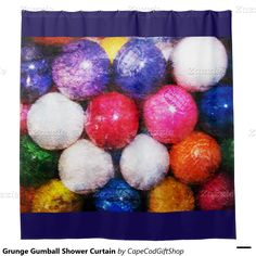 Grunge Gumball Shower Curtain