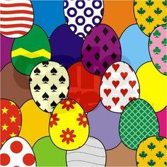 Easter Eggs Shower Curtain on CafePress.com