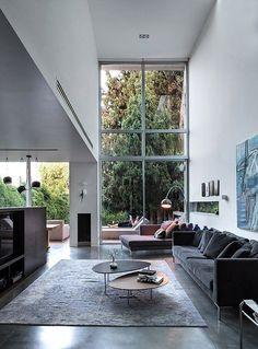 This is a dream living room idea with a minimalist style! The living room is a room that cannot be separated in the world of home decor and design. Contemporary Interior Design, Home Interior Design, Interior Architecture, Modern Contemporary, Drawing Architecture, Architecture Panel, Architecture Portfolio, Living Room Designs, Living Spaces
