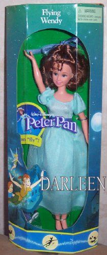 Fashion Doll: Disney Peter pans FLYING WENDY doll by Mattel 1997 >>> For more information, visit image link.