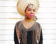Etsy :: Your place to buy and sell all things handmade African Hats, African Attire, African Wear, African Fashion, Zulu Traditional Attire, Zulu Traditional Wedding, Zulu Wedding, Wedding Gowns, Zulu Women