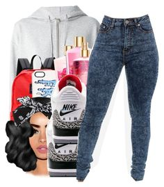 """""""chiraq x Nicki minaj ft lil herb"""" by shilohluvsu ❤ liked on Polyvore featuring Yves Saint Laurent, JanSport and Markus Lupfer"""