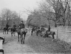 A woman rides side-saddle while out on the hunt in Galway ca. 1900 #Irish #history