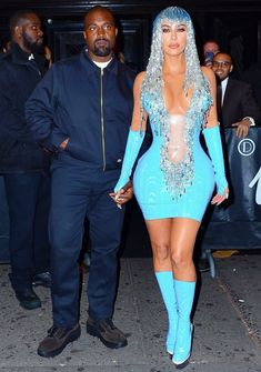 The Striking Met Gala After-Party Outfits You Didn't See Kim Kardashian at the Gala After-Party Outfit 2019 Estilo Khloe Kardashian, Kardashian Style, Kardashian Jenner, Kendall Jenner, Kardashian Kollection, Gala Dresses, Sexy Dresses, Peplum Dresses, Party Dresses