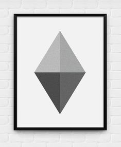 Geometric Diamond  Printable Poster  by BlackAndWhitePosters