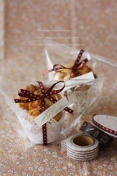 画像 Bake Sale Packaging, Brownie Packaging, Cupcake Packaging, Bakery Packaging, Cookie Packaging, Food Packaging Design, Cookie Gifts, Food Gifts, Baileys Cake