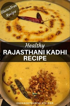 Mangodi Papad Kadhi, which is the authentic version of Rajasthani kadhi, enhanced with additional nutritional and health benefits of green mangoes. Vegetarian Curry, Vegetarian Recipes, Healthy Recipes, Lentil Recipes, Curry Recipes, Yogurt Curry, Indian Flat Bread, Food Staples, Vegetarische Rezepte