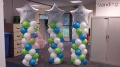 Gallery of Balloon Columns - Bing Images Balloon Columns, Balloon Arch, The Balloon, Balloon Pictures, Celebration Balloons, Personalized Balloons, Corporate Events, Aqua, Wakefield