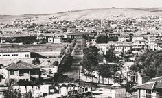 Gaziantep İstasyon Caddesi ve İleride görülen İstasyon Binası 1965