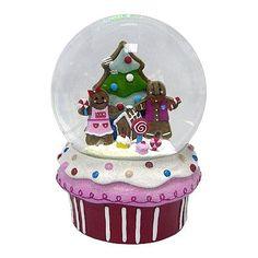 St. Nicholas Square Cupcake Musical Snowglobe