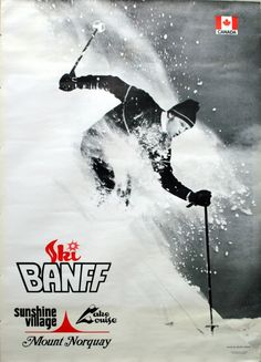 Banff Retro Ski Poster