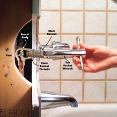 How to Fix a Leaking Bathtub Faucet — The Family Handyman This simple DIY repair saves money and water. Learn how to fix a leaky bathtub faucet. Shower Faucet Repair, Shower Faucet Handles, Bathroom Shower Faucets, Tub And Shower Faucets, Shower Valve, Tub Faucet, Bathroom Chrome, Shower Diverter, Shower Fixtures