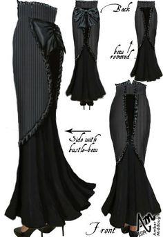 Steam Punk Ruffle Skirt by Amber Middaugh Yes! :)