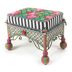 Greenhouse outdoor ottoman $750. I want it. And lots more on this website. Delicious!