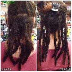 Manutenção e novos dreads nos cabelos de Gabriela de Santa Maria/RS